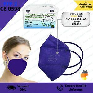 25x FFP2 Mundschutz Masken CE0598 5-lagige Filter - Halbmaske Premium dunkelblau