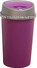 PLASTIC BINS 45L Ltr PLUM PURPLE TOUCH TOP BIN DUSTBIN RUBBISH KITCHEN HOME BINS