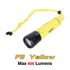 Fitech F8 Cree XML2 LED Rechargeable Diving Light Flashlight Torch - Yellow