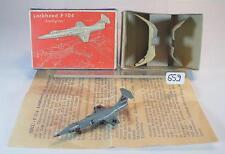 Siku Plastik 1/250 Siku Flugzeug F11a Lockheed F104 Starfighter BW OVP #559