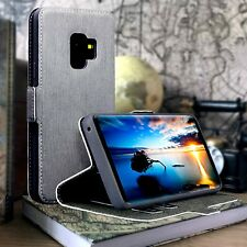 Coverup© Retail Box Impact Resistant Flip Case GREY l Samsung Galaxy S9