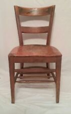 Vintage Antique Art Deco Solid Walnut Desk Chair Library Office Dining
