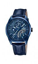 Festina Herrenuhr Uhr Multifunktion Tag Datum Armbanduhr Blau F16987/1