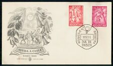 Mayfairstamps Argentina FDC 1960 Help Chile Flower Combo First Day Cover wwi_055