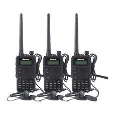 3x Retevis RT5 Walkie-Talkie FM 1750Hz Dual Band 136-174+400-520MHz 8W +Track NO