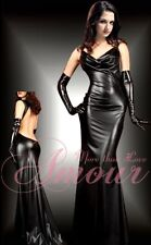 ROBE 38 40 42 CUIR VINYLE SEXY DRESS LEATHER BONDAGE BDSM