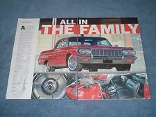 """1964 Chevy Impala SS Article """"All in the Family"""" 300hp-327 Restored"""