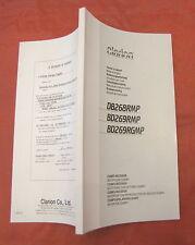 Manuale autoradio auto radio Clarion CD MP3 receiver DB268RMP BD269RMP BD269RGMP