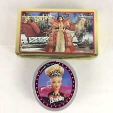Vtg Barbie Russell Stover Tins 90s Collectible Christmas Happy Holidays Mattel