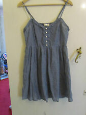 See Through Thin Blue Cotton Sleeveless Dress Accessorize Size M / Size 12 - 14