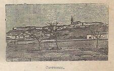 A0791 Casteggio - Veduta - Stampa Antica del 1911 - Xilografia