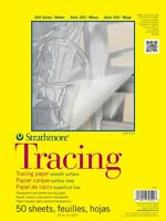 "Strathmore 370-14 300 Series Tracing Pad 14""x17"" Tape Bound 50 Sheets Art Paper"