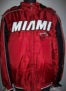 MIAMI HEAT Winter Jacket Parka Fleece Lining  XL Maroon / Black
