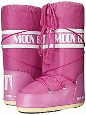 Women's Original Tecnica Moon Boot Orchid Pink Nylon Fashion Boot Size 9 - 10.5