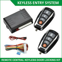 Car Door Remote Central Locking System Security Keyless Entry Kit & 2 Keys Fobs