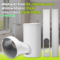 "60"" Exhaust Hose 6"" Diameter For Air Conditioner+Window Adaptor+Window Kit"