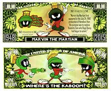 MARVIN LE MARTIEN - Billet MILLION DOLLAR US! Collection Dessin Animé Looney Tun