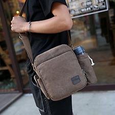 Men's Canvas Crossbody Satchel Shoulder Bag Messenger Bag Travel Backpack NEW