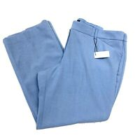 Express Women Dress Pants Size 18S Blue Editor Barely Boot Low Rise Stretch FLAW