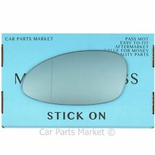 Left side Blue Wide Angle Wing door mirror glass for Porsche 968 92-95