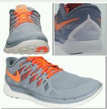 Nike Free 5.0 Mens Running Shoes Grey Orange Trainers 642198-008 NWB size 9.5 M