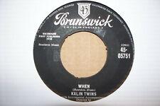THE KALIN TWINS,  WHEN,  BRUNSWICK RECORDS 1958 EX+