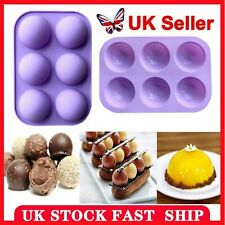 UK Semi Sphere Half Round Silicone Bakeware Mould Dome Chocolate Bombe Pan HOT