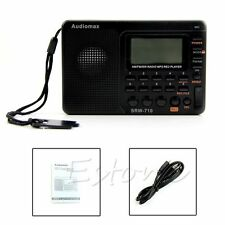Digital Portable Tuning LCD Receiver TF MP3 REC Player AM FM SW Full Band Radio