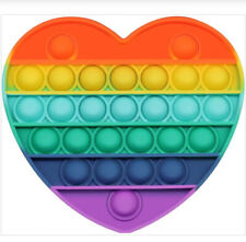 Jouet Anti Stress Enfant Adulte Pop it fidget Toy Push Rainbow Bulle Sensorielle
