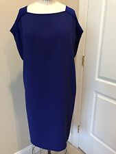 NWOT Tahari Shift Style Dress In A beautiful Shade Of Purple/blue Size M