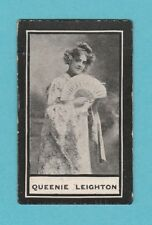 STAGE - WILLS SCISSORS - MUSIC HALL CELEBRITIES -  QUEENIE  LEIGHTON  -  1911