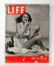 LIFE MAGAZINE AUG 11th 1941 Cover Rita Hayworth