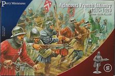 Perry Miniatures  Agincourt French Infantry 1415-29 (42) 28mm Plastic New!