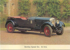 Bentley Speed Six 6.5 Litre MODERN postcard issued by Posterity Plates