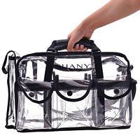 Clear Makeup Bag, Pro Mua rectangular Bag with Shoulder Strap, Large