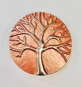 Orange Mulberry Tree Of Life Magnetic Brooch Ideal for Scarf Wrap Pashmina Gift