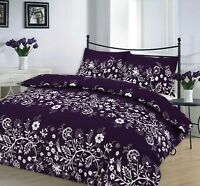 Luxury Charlotte Purple Floral Duvet Cover Set Bedding Set with Pillowcase Bed