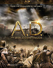 New A.D. THE BIBLE CONTINUES Blu-Ray 4-Disc Set Jesus Christianity FREE US SHIP!