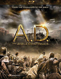A.D. AD The Bible Continues (Blu-ray 2015, 4-Disc Set ) NEW, Sealed