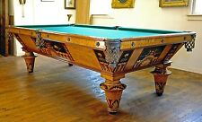 Antique pool table, c1875-1885, professionally restored.