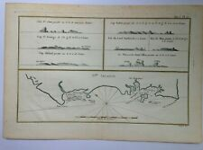 AUSTRALIA 1774 JAMES COOK ANTIQUE ENGRAVED SEA CHART IN COLORS 18TH CENTURY