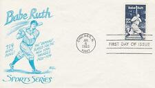 1983 BABE RUTH ISSUE SCOTT #2046 FIRST DAY COVER BASEBALL TOPIC #65 BAZAAR CACH