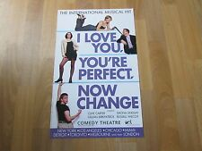 I LOVE you You're PERFECT Now CHANGE the Musical Hit DOMINION Theatre Poster
