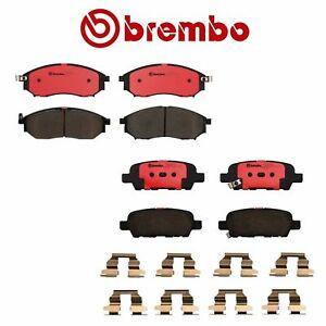 Front Rear Ceramic Brake Pads Kit Brembo for Infiniti EX37 G37 EX35 G25 M35 FX35