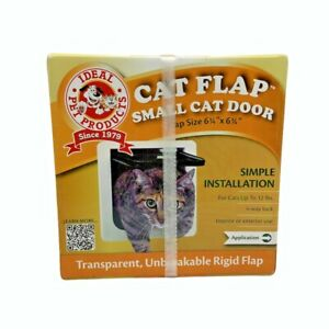 "Ideal Pet Products Cat Flap Small Cat Door (6 1/4"" x 6 1/4"") White # SPF - NIB"
