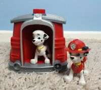 Paw Patrol Marshall Pup to Hero Figure Playset, 2x Pups & Doghouse, Transforming