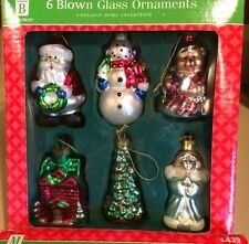 2 Sets Of 6 2004 Merry Brite Blown Glass Ornaments