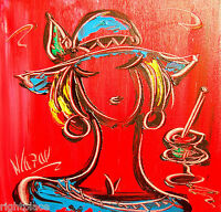 Blushing Girl   ORIGINAL OIL Painting  Stretched  signed by Mark Kazav