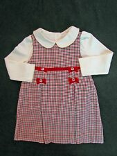 NWT Gymboree Holiday Memories 2Pc Set 2T Jumper Dress Top Red Plaid Ivory Collar