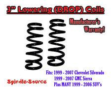 "1999 - 2006 Silverado Sierra 1500 V8 3"" Lowering Drop Coils Springs Kit"